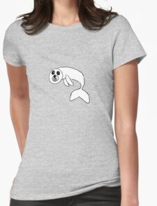 cute seal pup Womens Fitted T-Shirt