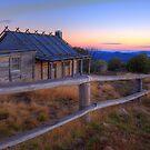 Dawn at Craigs Hut by doug hunwick