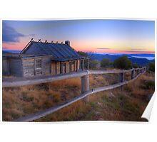 Dawn at Craigs Hut Poster