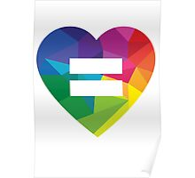 Marraige Equality Heart Poster