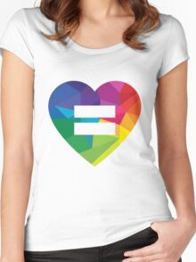 Marraige Equality Heart Women's Fitted Scoop T-Shirt