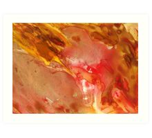 Hot Red Lava Flow  Abstract Art Print