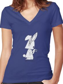 Robots in Disguises - Easter Bot Women's Fitted V-Neck T-Shirt