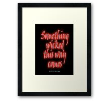 MACBETH, Something Wicked, Shakespeare, Play, Theater, Play, Second Witch Framed Print