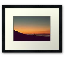 we drifted upon the sighs of summer Framed Print