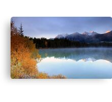 Herbert Lake Sunrise Canvas Print