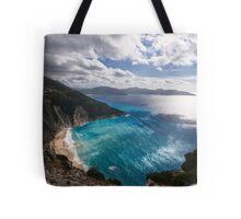 Myrtos Beach in Kefalonia Tote Bag