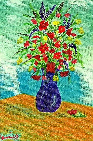 Purple Vase by Anne Gitto