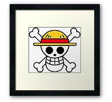one piece pirate flag! Framed Print