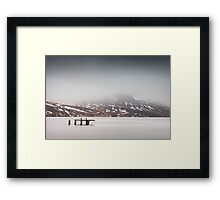 Chilly Dive Framed Print