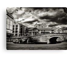 Nottingham Canal b&w  Canvas Print