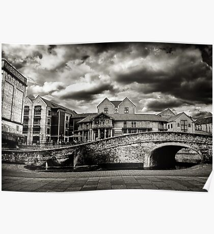 Nottingham Canal b&w  Poster