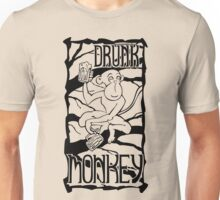 Drunk Monkey Unisex T-Shirt