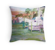 Port or entry Clearwater Throw Pillow