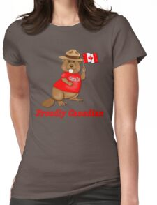 Proudly Canadian Womens Fitted T-Shirt