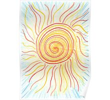 0710 - The Sun Shining in Waves Poster