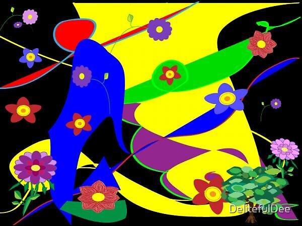 Primary Colors on Black by DelitefulDee