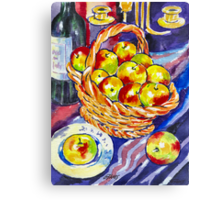 STILL LIVE WITH APPLES Canvas Print