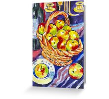 STILL LIVE WITH APPLES Greeting Card