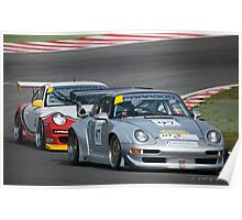 Racing Porsches Poster
