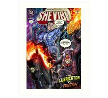 SheVibe Presents - Dean Elliott, The Sliquid Lubricator Cover Art Art Print