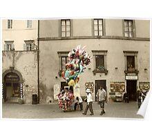 Balloon Man-Orvieto, Italy Poster