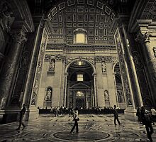 St. Peters Interior - in tin type by Tom Davidson
