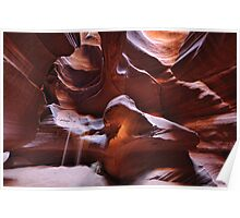 Antelope canyon sandfall Poster