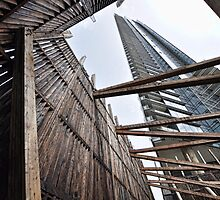 Downtown Vancouver-art in wood & steel by Tom Davidson