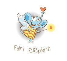 Fairy elephant. by Voron4ihina