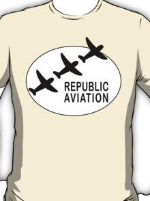 Republic Aviation Repro Logo (White Ver.)  T-Shirt