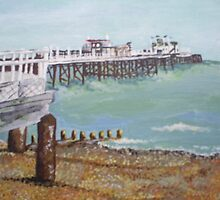 Worthing Beach and Pier, Sussex by Tjones01