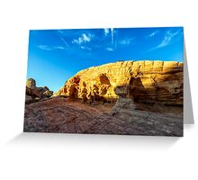 SANDSTONE SUNSET Greeting Card