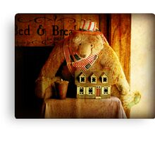BednBreakfast Bear Canvas Print