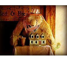 BednBreakfast Bear Photographic Print