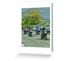 Group Of Bikers Greeting Card
