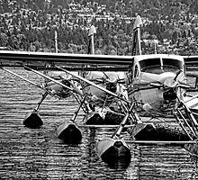 Airplanes-seaplanes B&W by Tom Davidson