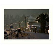 Lourdas Beach Front Art Print