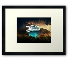 Elements collide. Framed Print