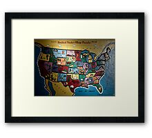 united states map puzzle Framed Print