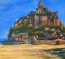"""On This Rock,""- Le Mont Saint Michel, France by Lynn  Abbott"