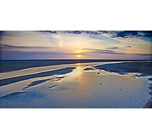 Sun Dipping Into The Sea Photographic Print