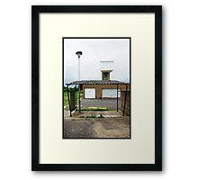 [view from] Behind the Bikeshed Framed Print