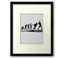 Baseball Evolution Framed Print