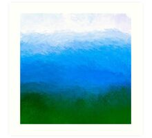 The Sea Is Deep - Blue-Green Ombre Painting Art Print