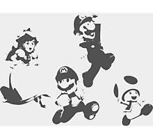 Super Mario 3D World - Minimalistic Press Print Photographic Print