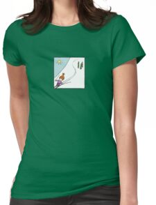 Ski Fun Womens Fitted T-Shirt