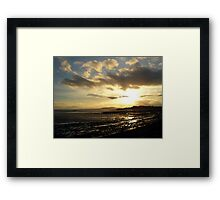 Strangford Sunset Framed Print