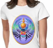 Hot Scarab-light Oval Womens Fitted T-Shirt