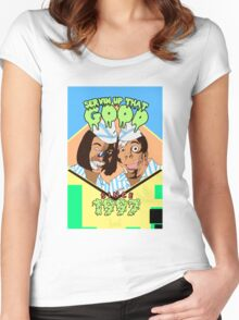 Home of the Good Burger Women's Fitted Scoop T-Shirt